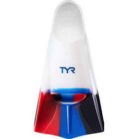 TYR Stryker Silicone Fins XL Navy/Red/Clear